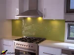 Kitchen Splashback by Yellow Kitchen Splashback Wathaurong Glass