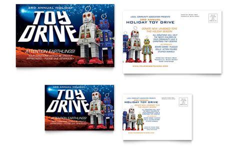 post card template drive drive fundraiser postcard template design