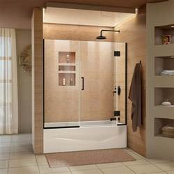 4 ft shower door dreamline unidoor x 58 in w x 58 in h frameless hinged
