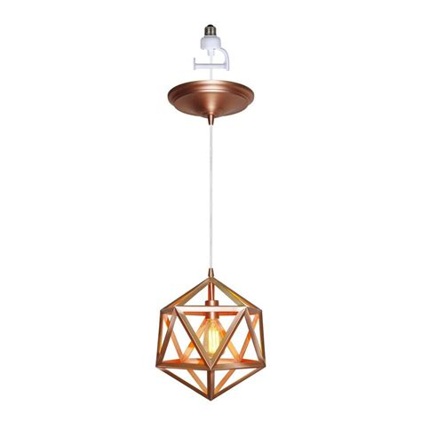 Hanging Pendant Light Worth Home Products 1 Light Copper Finish In Pendant With Wire Cage Shade Pkn 0361 The