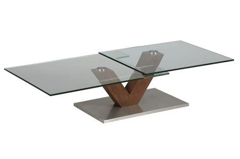 table bois et verre design table basse design verre et bois socle en acier cbc meubles