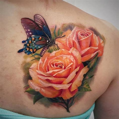 rose and butterfly tattoos best 25 and butterfly ideas on
