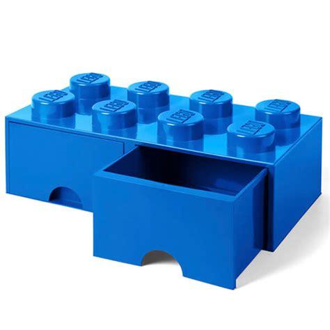 Lego Storage Brick 8 Blue Dc001029 lego storage 8 knob brick 2 drawers bright blue my box us
