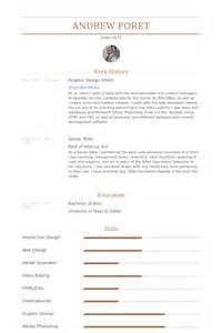 graphic design intern resume sles visualcv resume