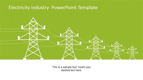 electrical themes for ppt free download power line vector for electricity industry powerpoint