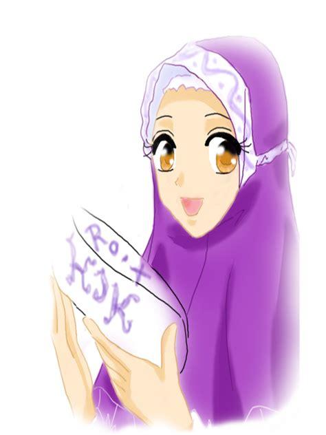 Cerita Anime Hijab Gambar Animasi Dp Bbm Wanita Muslimah Terlengkap Display