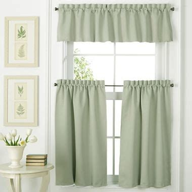 Kitchen Curtains At Jcpenney by Facets Rod Pocket Window Treatments Green