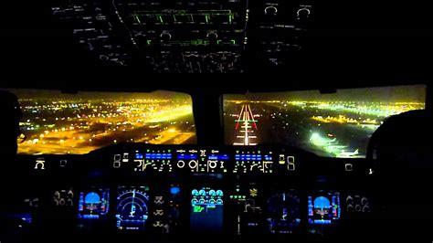 cabina di pilotaggio airbus a380 cockpit view emirates airbus a380 landing dubai