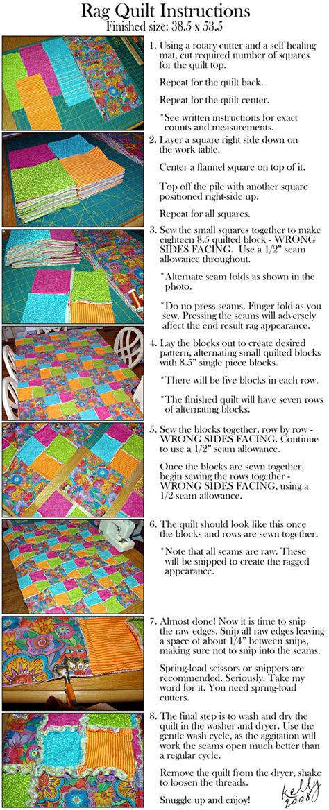 How To Quilt A Quilt by Rag Quilt Quilt