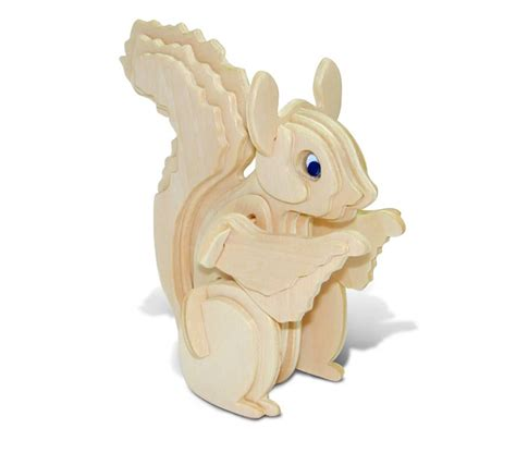 3d Puzzle Squirrel By Bimbozone squirrel 3d wood puzzle