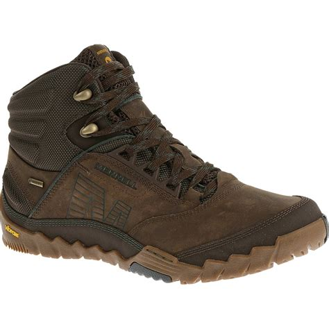 merrill mens boots merrell s annex mid tex hiking boots clay
