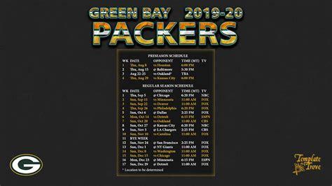 green bay packers wallpaper schedule