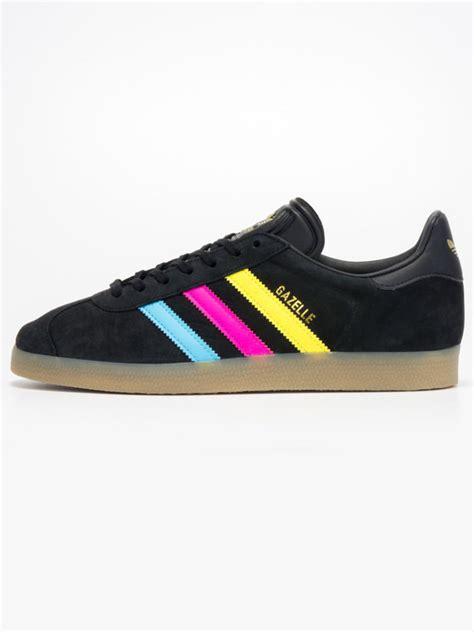 Adidas Colour Black Cowok Made In 1 adidas gazelle color stripe trainer black xile