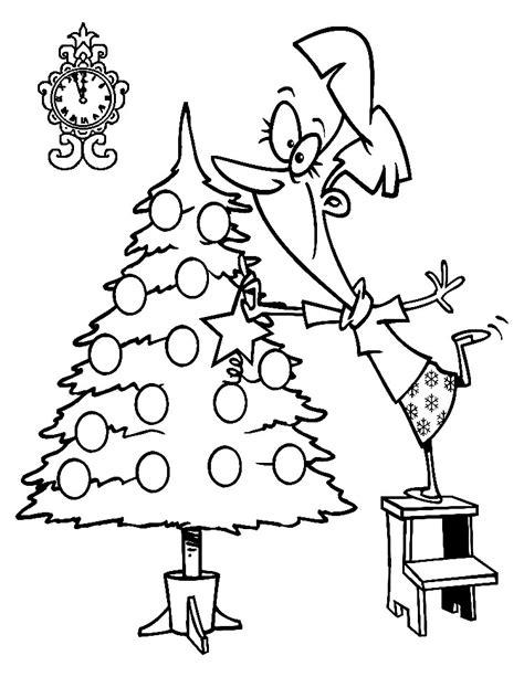 descargamos dibujos para colorear arbol de navidad