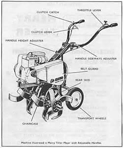 wolseley merry tiller major rotavator cultivator