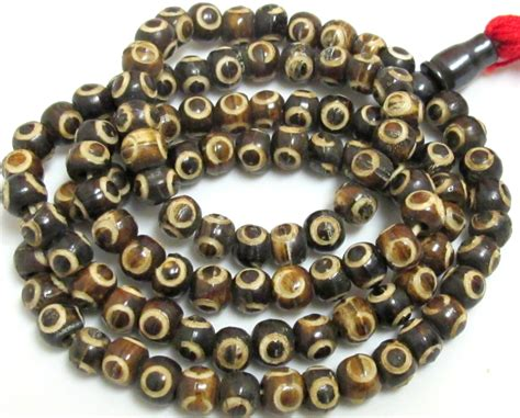 tibetan carved circles eye 108 bone mala supply 8 mm