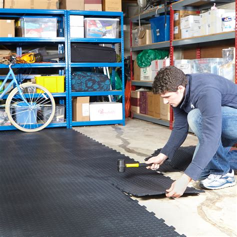 vinyl floor garage garage floor tiles interlocking vinyl flooring heavy duty matting workshop ebay