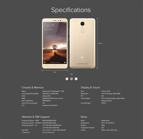 note 3 features xiaomi redmi note 3 redmi note 3 specification features