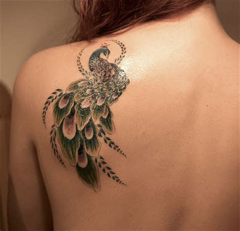 peacock shoulder tattoo designs peacock design lovefunn