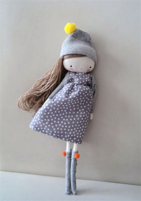 Handmade Fabric Dolls - handmade rag doll laia ooak cloth rag doll polka