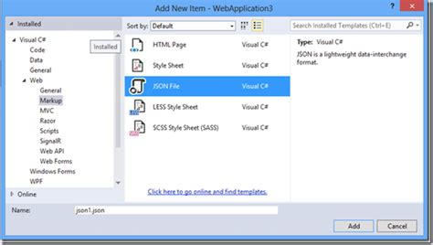 format json file visual studio new json editor features in visual studio 2013 update 2