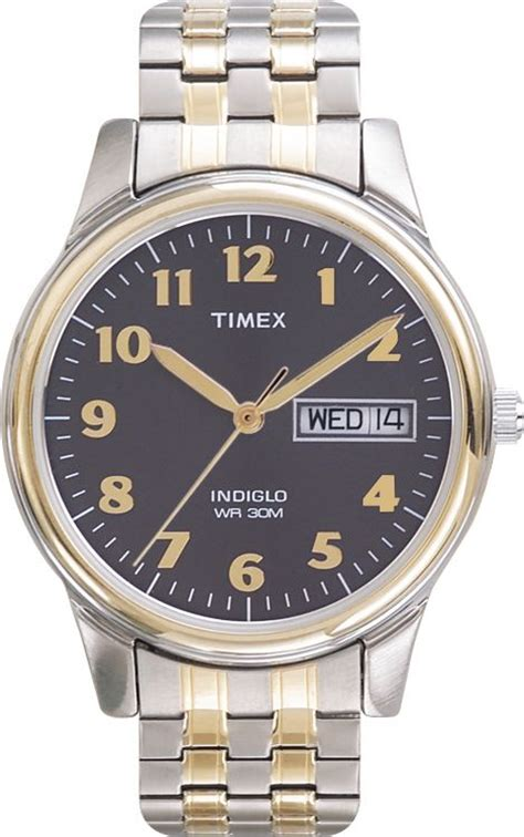 timex mens calendar day date w charcoal two