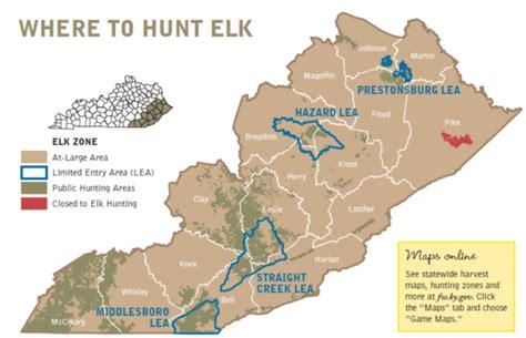 ky elk map elk 101 kdfws