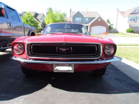 car owners manuals for sale 1968 ford mustang electronic valve timing classic 1968 ford mustang coupe with 289 3 speed manual trans red with new tires for sale