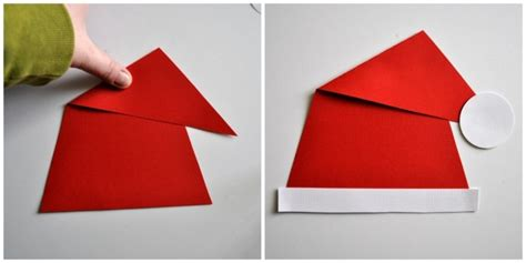 How To Make A Santa Hat Out Of Paper - santa hat craft preschool crafts