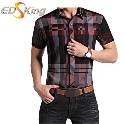 sleeve plaid print shirt mens sleeve shirts plaid print dress social
