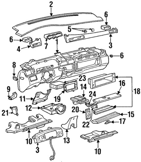electric power steering 1992 cadillac seville spare parts catalogs oem instrument panel for 1996 cadillac seville gmpartscenter net