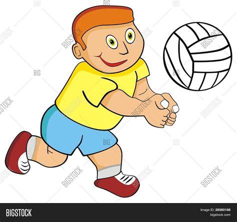 imagenes de niños jugando volibol vectores y fotos en stock de vector kid ni 241 o jugando