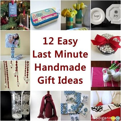 Last Minute Handmade Gifts - 12 easy last minute handmade gift ideas madigan