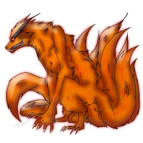 kurama kyuubi by moonstalkerwerewolf on deviantart