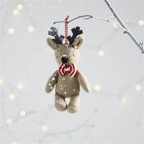 knitted reindeer decoration the white company shopping