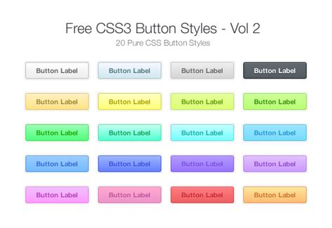 12 modern stylish css3 buttons web graphic design free css3 button styles vol 2