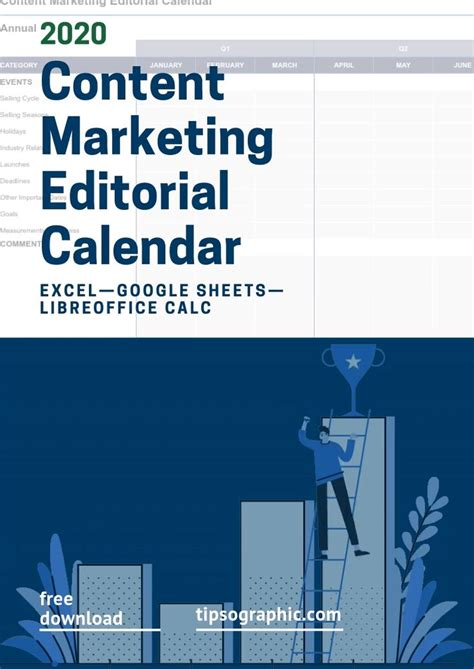 content marketing editorial calendar template  excel