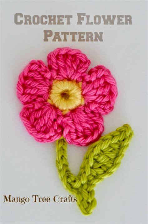 flower applique mango tree crafts free crochet flower applique pattern