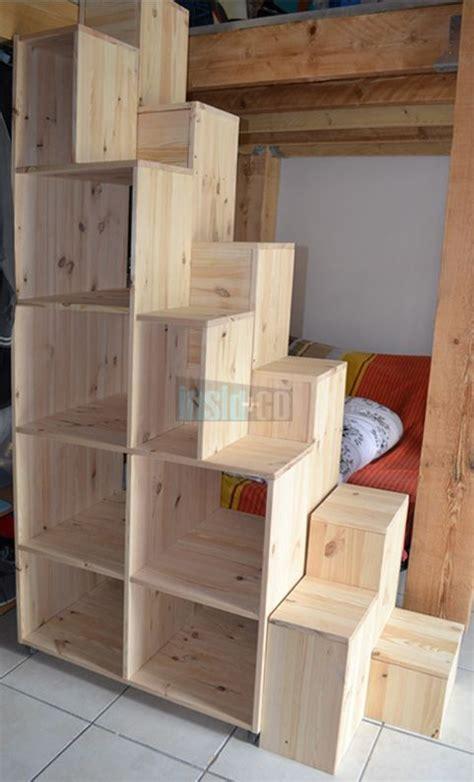 escalier avec rangement mezzanine ciabiz