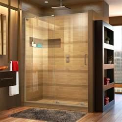 mirage shower doors shop dreamline mirage x frameless brushed nickel sliding