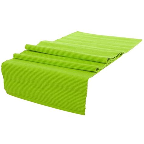 Lime Green Table L Manchester Lollipop Table Runner Lime Green 33 X 135cm