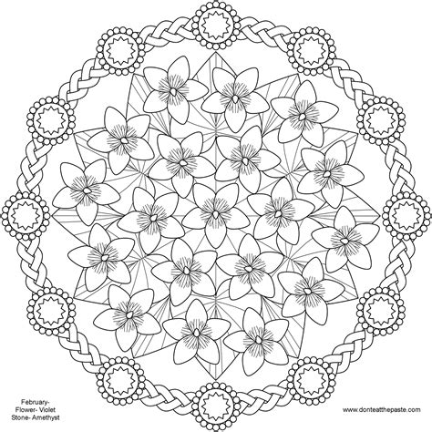 printable spring coloring pages for adults spring flower mandala coloring pages pattern mandala