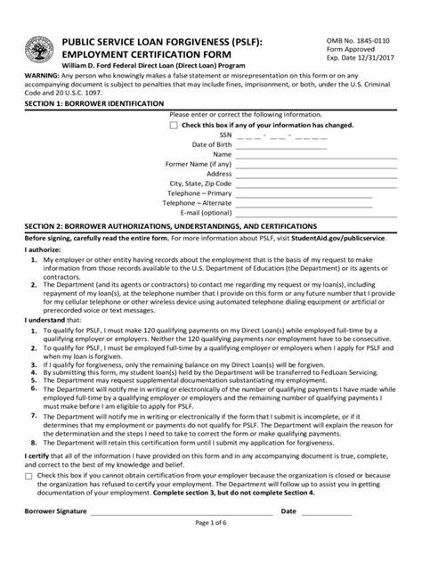 service loan forgiveness form service loan forgiveness form 5 free templates in