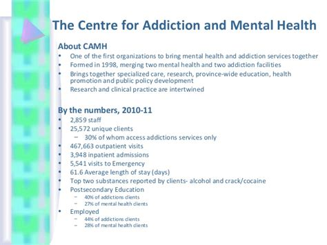 Camh Detox by Workshop On Mental Health In Partnership With Camh