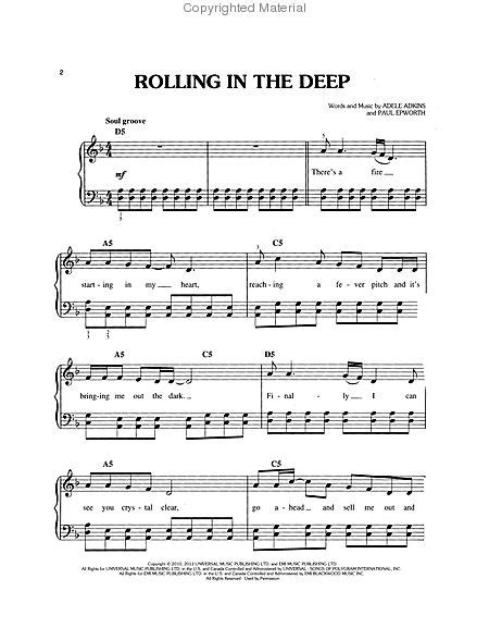 adele rolling in the deep piano music rolling in the deep sheet music by adele sheet music plus