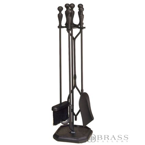 Black Fireplace Tool Set by Fireplace Tool Set Black 4 Tools Brass Gallery