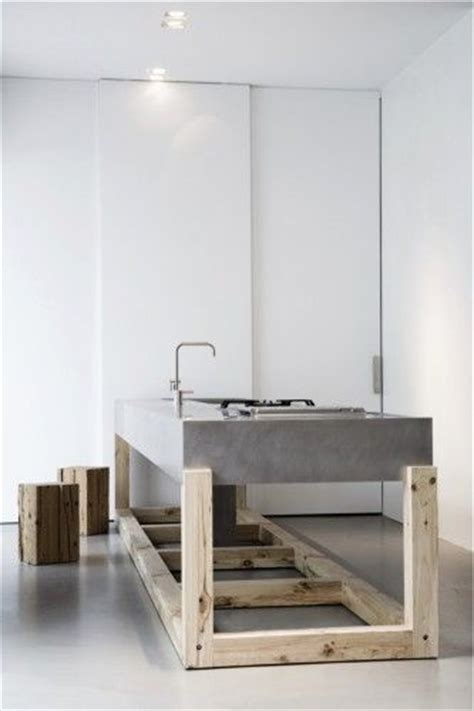 Concrete And Wood Kitchen by Woods Kitchens And Concrete Wood On