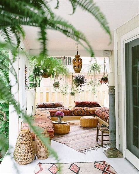 bohemian style home 15 inspiring bohemian porch with colored textiles home