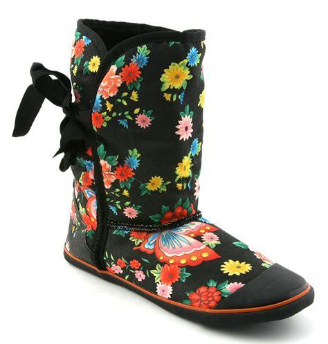 womens sugar origami fur boot blk geisha prt boots ebay