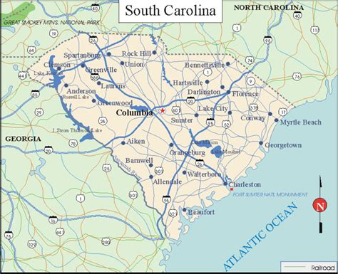 map of of carolina printable maps of south carolina search engine at